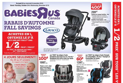 Babies R Us (QC) Flyer October 24 to November 6