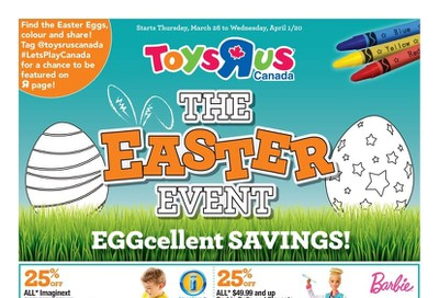 Toys R Us Flyer March 26 to April 1