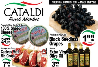 Cataldi Fresh Market Flyer March 25 to 31