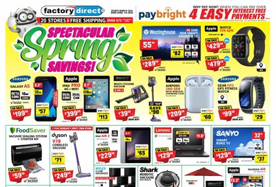 Factory Direct Flyer March 25 to April 1