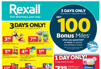 Rexall (ON) Flyer March 27 to April 2