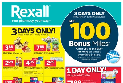 Rexall (West) Flyer March 27 to April 2