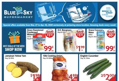 Blue Sky Supermarket (Pickering) Flyer March 27 to April 2