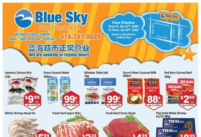 Blue Sky Supermarket (North York) Flyer March 27 to April 2