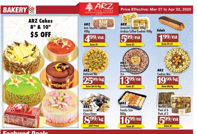 Arz Fine Foods Flyer March 27 to April 2