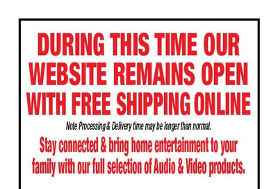 2001 Audio Video Flyer March 27 to April 16