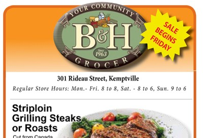 B&H Your Community Grocer Flyer October 25 to 31