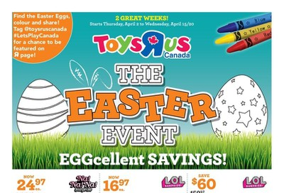 Toys R Us Flyer April 2 to 15