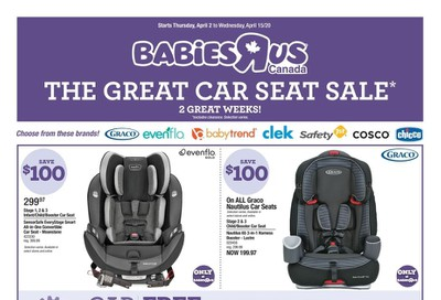 Babies R Us Flyer April 2 to 15