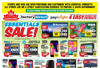 Factory Direct Flyer April 1 to 8