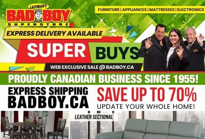 Lastman's Bad Boy Superstore Flyer April 1 to 22