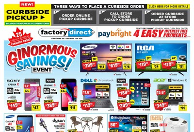 Factory Direct Flyer April 8 to 15