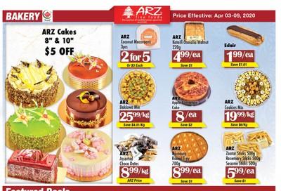 Arz Fine Foods Flyer April 3 to 9
