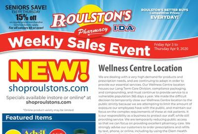 Roulston's Pharmacy Flyer April 3 to 9