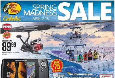 Bass Pro Shops Weekly Ad & Flyer April 2 to 15