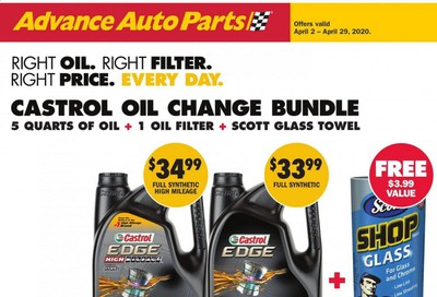 Advance Auto Parts Weekly Ad & Flyer April 2 to 29