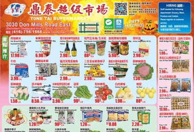 Tone Tai Supermarket Flyer October 25 to 31