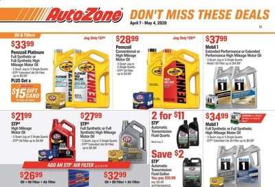 Autozone Weekly Ad & Flyer April 7 to May 4