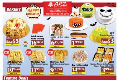 Arz Fine Foods Flyer October 25 to 31