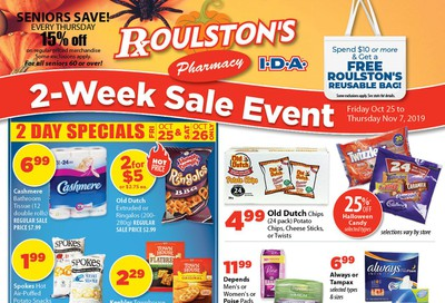 Roulston's Pharmacy Flyer October 25 to November 7