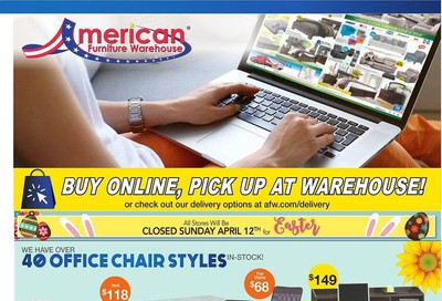 American Furniture Warehouse Weekly Ad & Flyer April 12 to 18