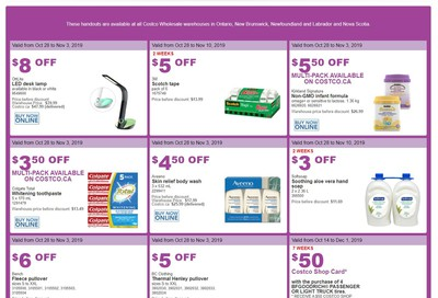 Costco (ON & Atlantic Canada) Weekly Savings October 28 to November 3