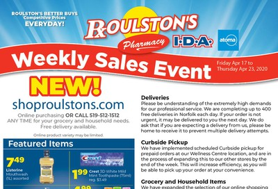 Roulston's Pharmacy Flyer April 17 to 23