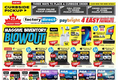 Factory Direct Flyer April 22 to 29