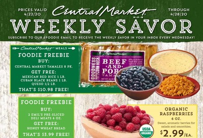 Central Market Weekly Ad & Flyer April 22 to 28