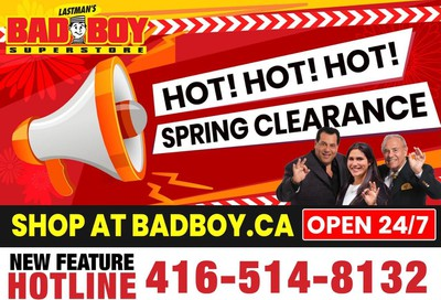 Lastman's Bad Boy Superstore Flyer April 23 to May 19