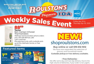 Roulston's Pharmacy Flyer April 24 to 30