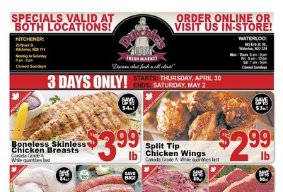 Dutchies Fresh Market Flyer April 30 to May 2