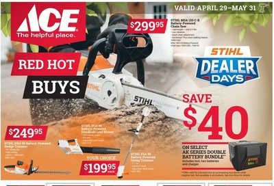 ACE Hardware Weekly Ad & Flyer April 29 to May 31