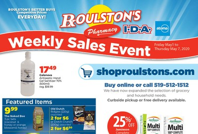 Roulston's Pharmacy Flyer May 1 to 7
