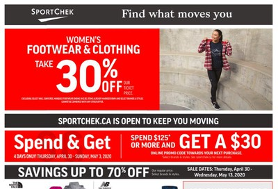 Sport Chek Flyer April 30 to May 13