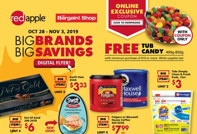 The Bargain Shop and Red Apple Stores Flyer October 28 to November 3