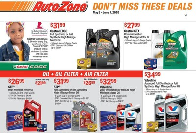 Autozone Weekly Ad & Flyer May 5 to June 1