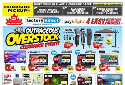 Factory Direct Flyer May 6 to 13