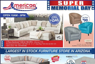 American Furniture Warehouse Weekly Ad & Flyer May 10 to 24