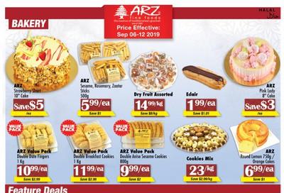 Arz Fine Foods Flyer September 6 to 12