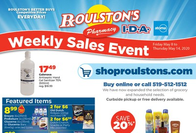 Roulston's Pharmacy Flyer May 8 to 14