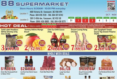 88 Supermarket Flyer October 31 to November 6