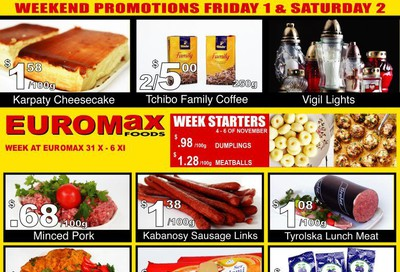 EuroMax Foods Flyer October 31 to November 6