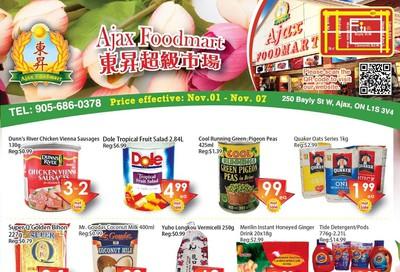 Ajax Foodmart Flyer November 1 to 7