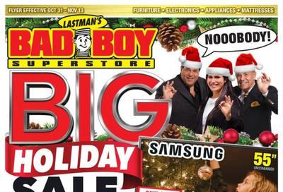 Lastman's Bad Boy Superstore Flyer October 31 to November 13