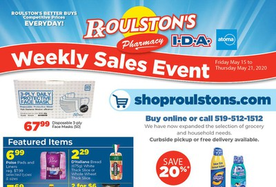 Roulston's Pharmacy Flyer May 15 to 21