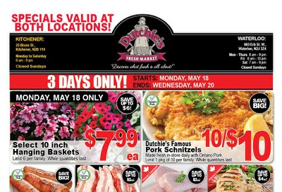 Dutchies Fresh Market Flyer May 18 to 20