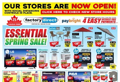 Factory Direct Flyer May 20 to 27