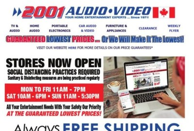2001 Audio Video Flyer May 22 to 28