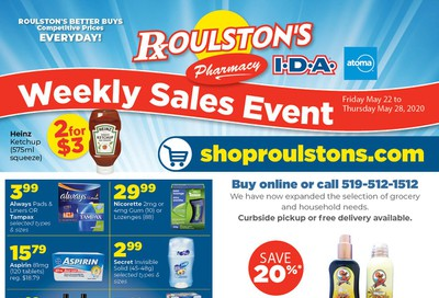 Roulston's Pharmacy Flyer May 22 to 28